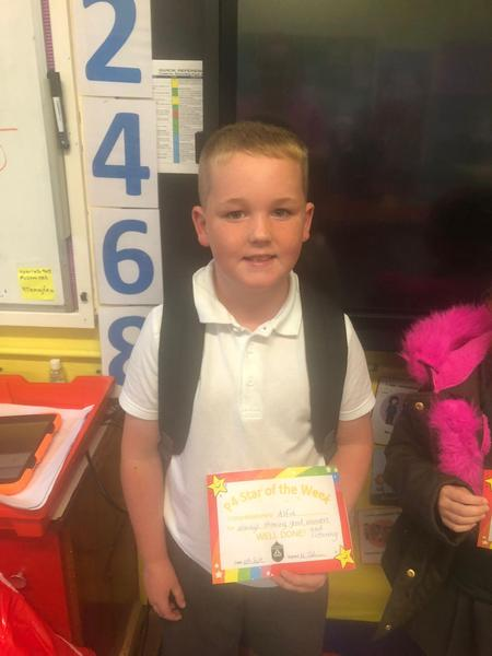 Well done to our P3 star of the week!