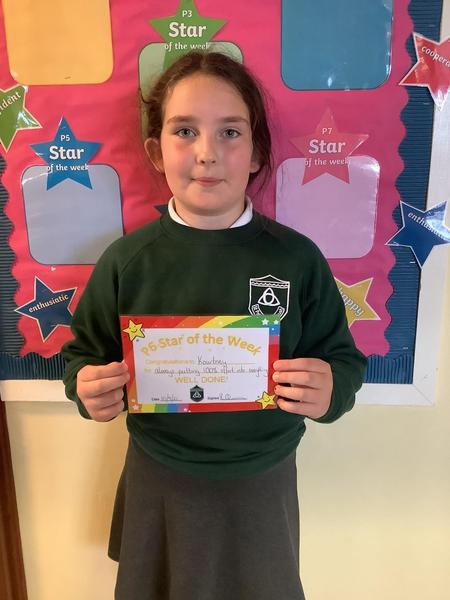 Well done to our P6 star of the week!