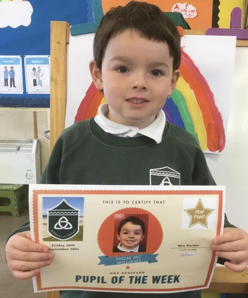 Well done to our P.1/2 star of the week