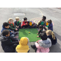 We learnt how to play marbles.