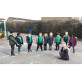 We learnt how to play skipping games.
