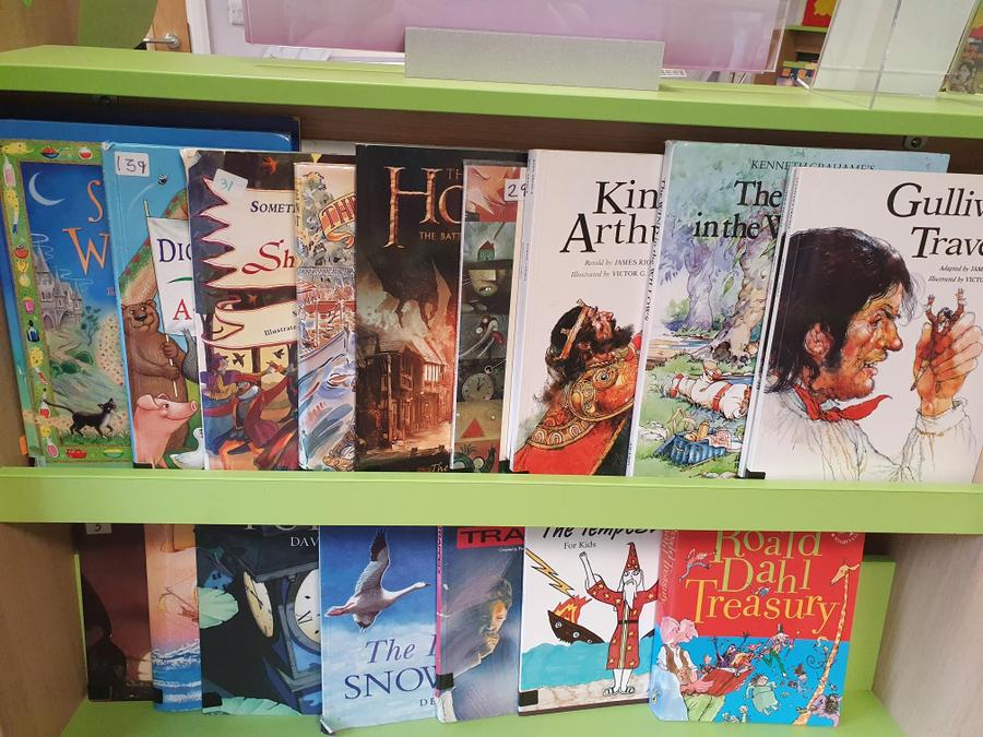 Classics and well loved picture books.