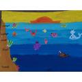 Art 15/5/20 - Layers of the ocean art