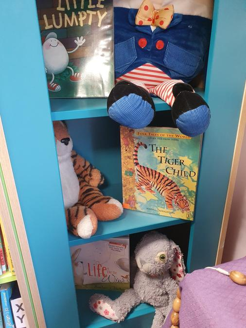 Character corner - your favourite story books and cuddly characters all in one place.