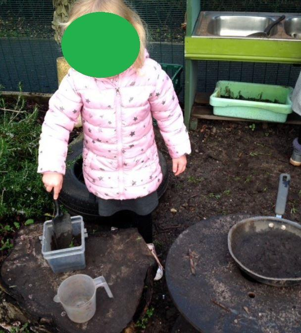 Sensory outdoor fun.