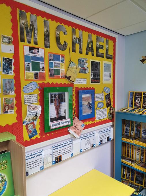 Author of the month display.