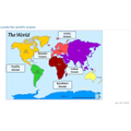 20/4/20 Geog - we located the 5 oceans on a map