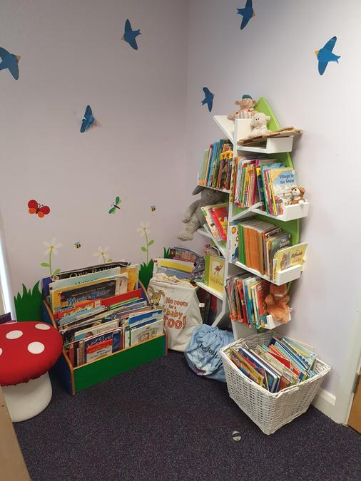 Younger readers' fairy-tale corner, filled with picture books, first reads & story sacks.