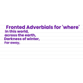 Collecting fronted adverbials