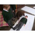 Practical measuring activities in Year 1.