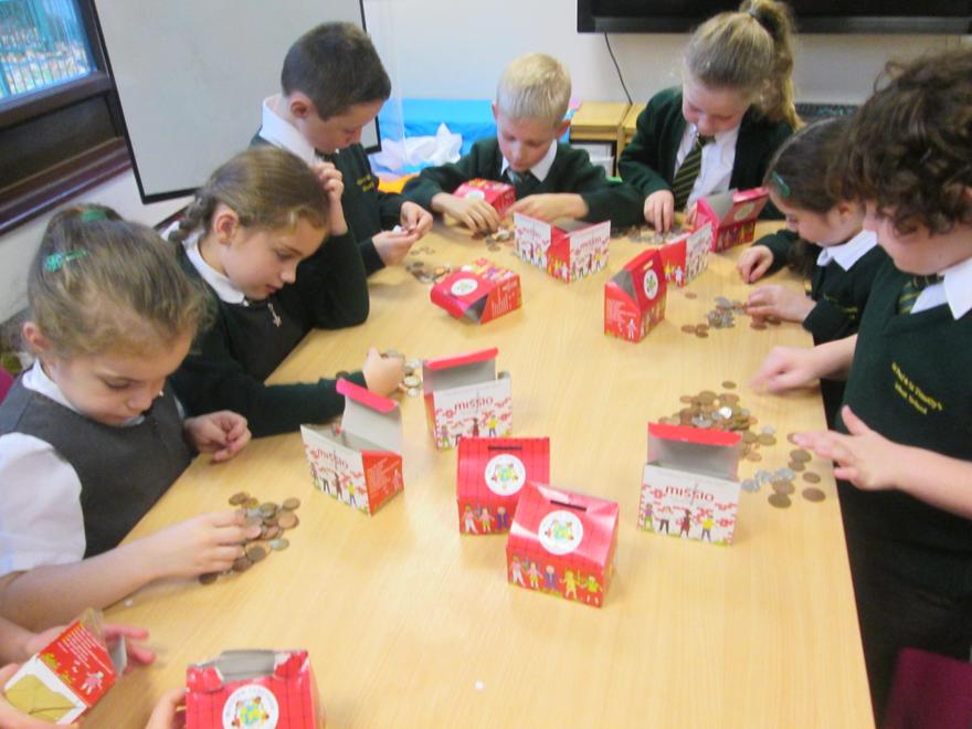 Counting the Money. We raised £600
