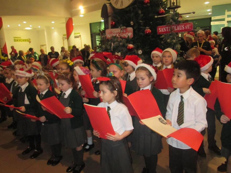 Our choir singing at Alder Hey