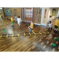 Year 1 having fun practicing lots of new skills.