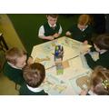 Practical measuring activities in Year 1.