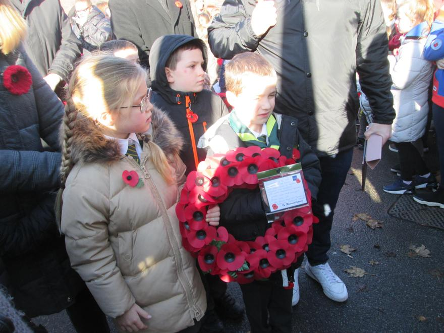 Laying a wreath at the Cenotaph