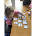 Evie working with numbers!