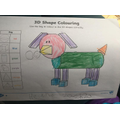 Helena's shape colouring!