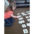 Tianna working on her number matching