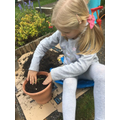Planting with Helena!