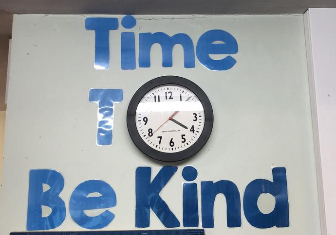 A gentle reminder to all that it's always TIME TO BE KIND!