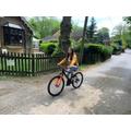Beth cycling her 1km