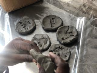 Making fossils.