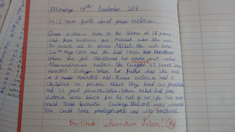 Kelsey 6B. Facts on Queen Victoria