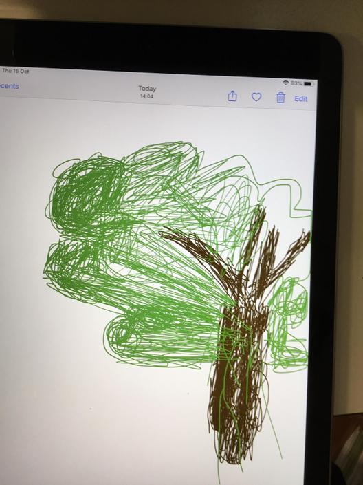 Hockney inspired Ipad art