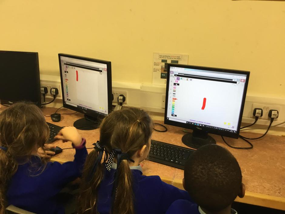 Pictograms in our computing lesson