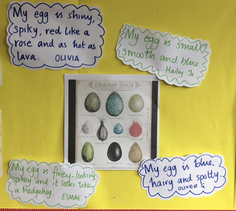 Some of our dragon egg inspired sentences