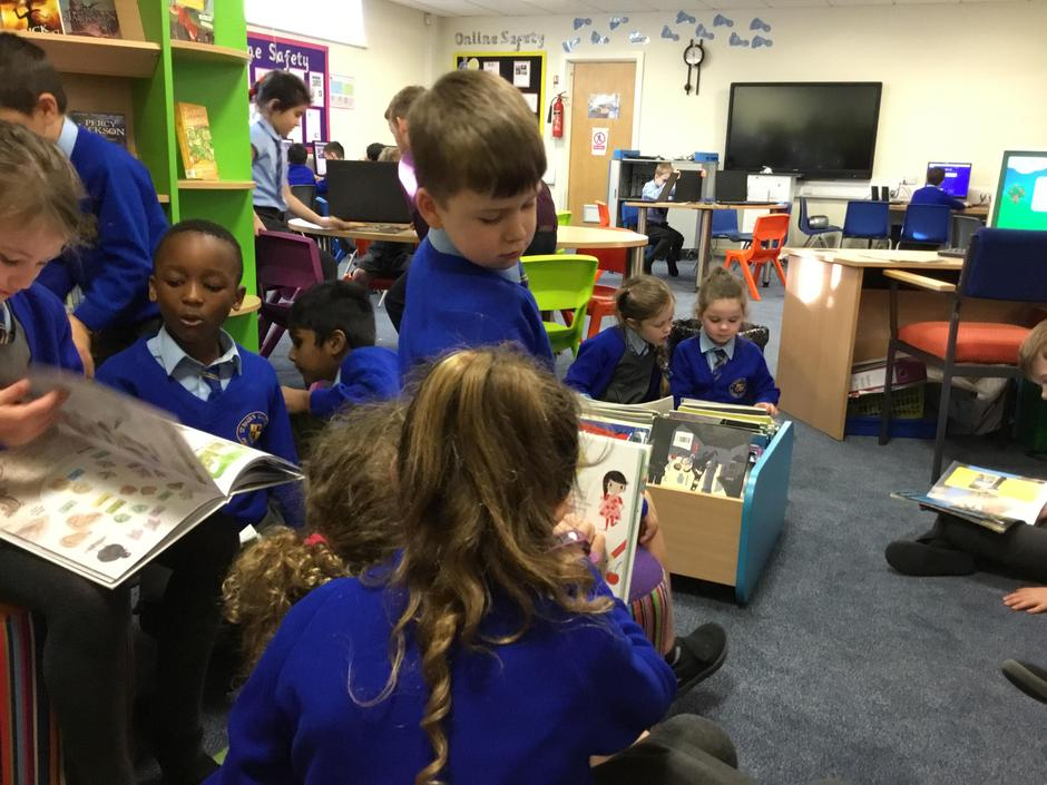 Loving our library time!