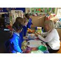 Developing fine motor skills in Reception.