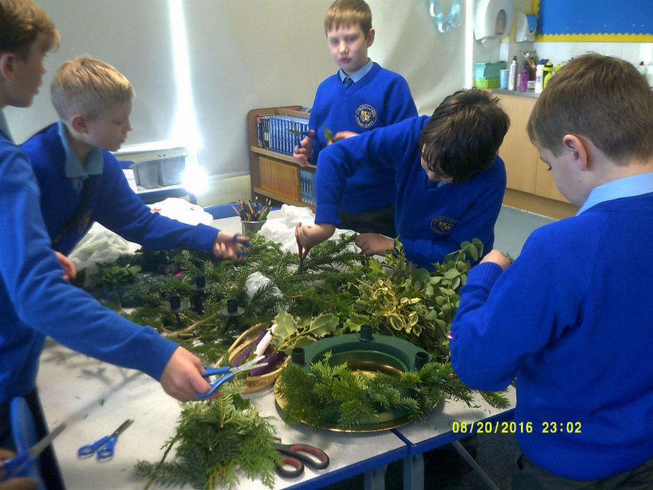 Making our Advent wreath
