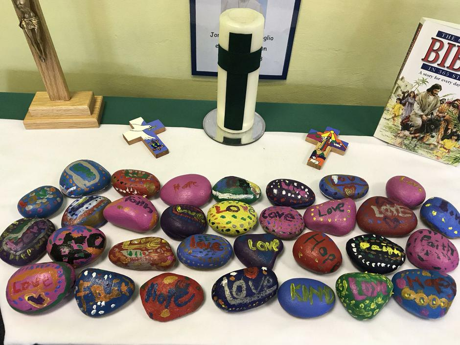 Our beautiful prayer stones.