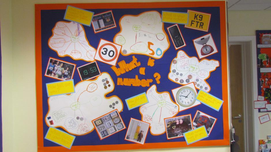 Colourful classroom displays.