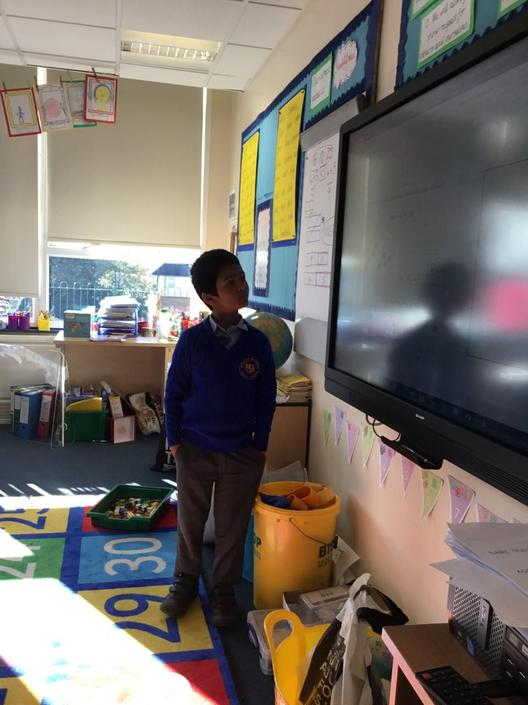 Teaching Maths to the class