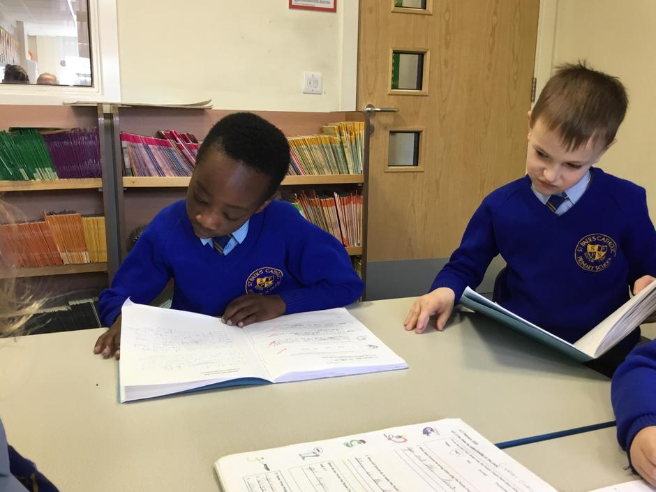 Sharing our Literacy work.