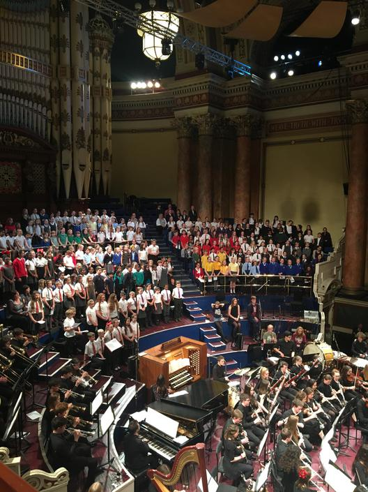 The choir at the Town Hall