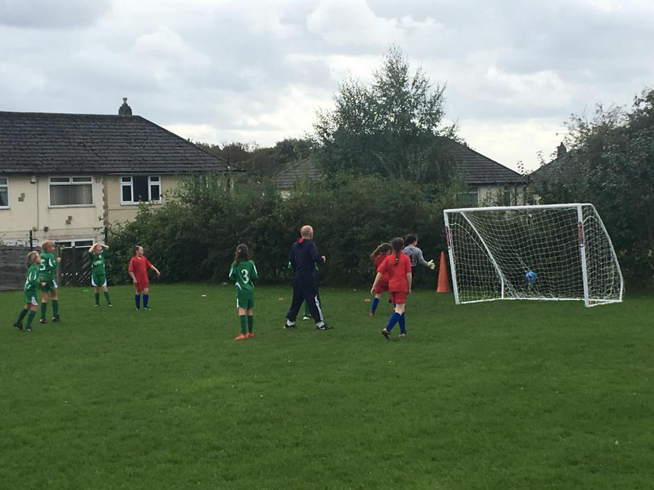 Goals galore for the girls' U11 football team.