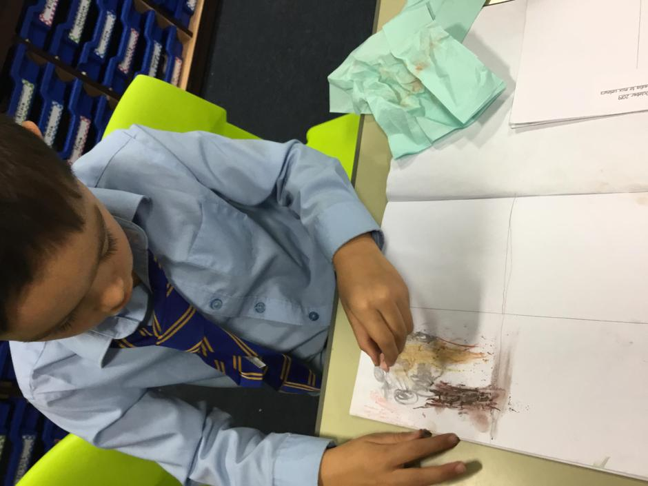 Colour mixing with chalk pastels