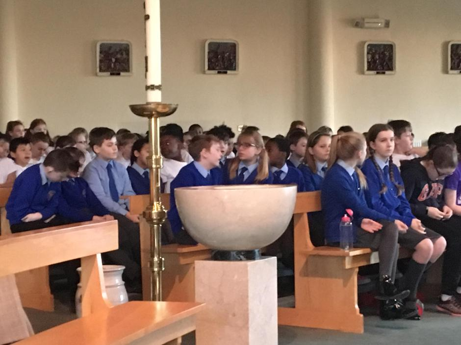 Practising for the Advent Service.