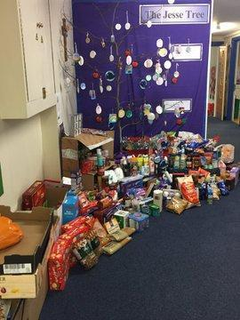 Donations for the local foodbank