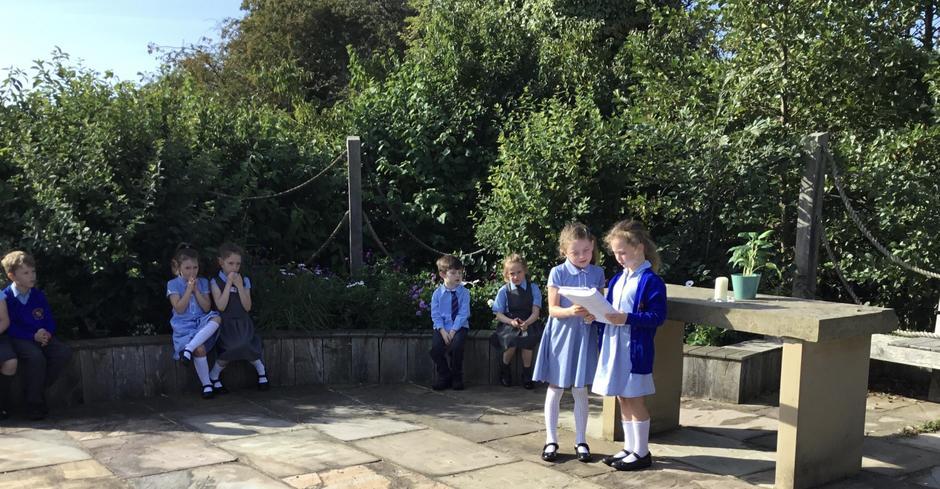 Collective worship in the prayer garden