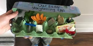 We read the Easter story and created our symbols.