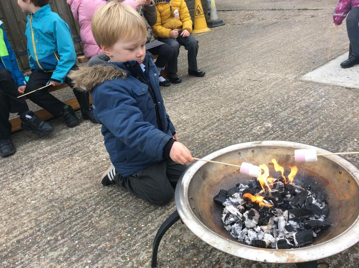 We got to toast marshmallows in our KS1/YR bubble.
