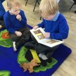 We love sharing books on the carpet every morning.