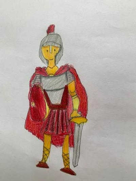 Evie's Roman soldier