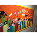 Display boards around school