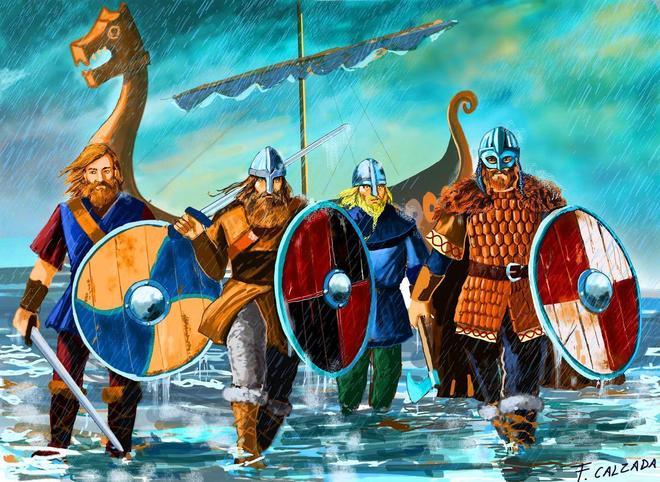 Vikings ashore