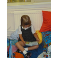 Enjoying the reading area